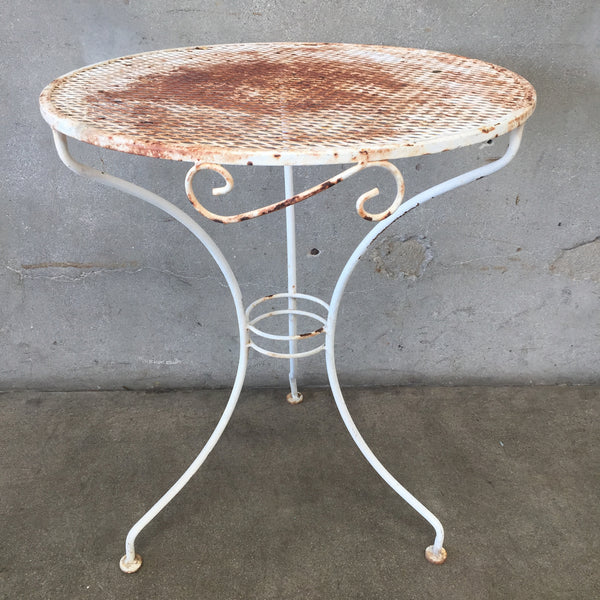 Round Iron Patio Table
