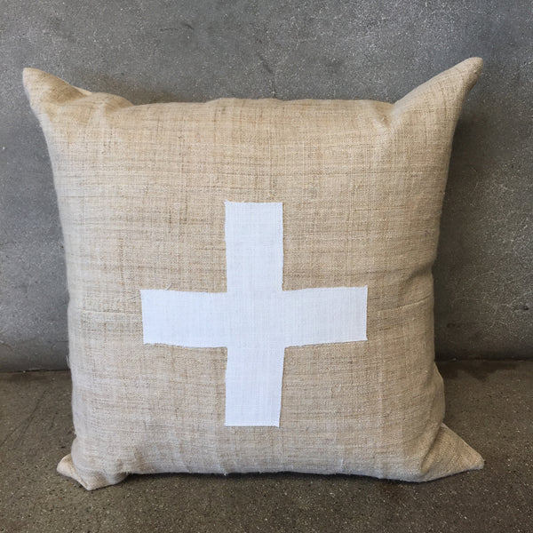 Swiss Cross Designer Pillow