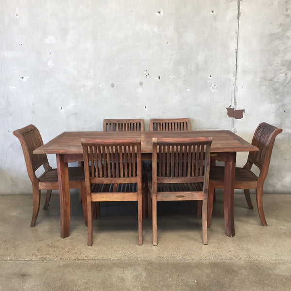 Smith & Hawken Teak Patio Set
