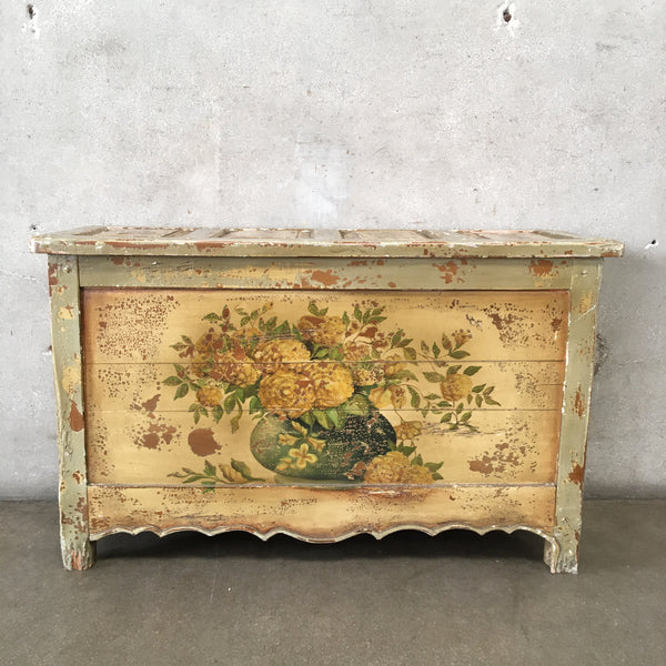 Vintage Shabby Chic Painted Chest