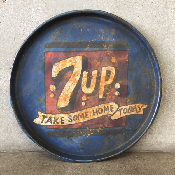 Vintage 7up Metal Tray