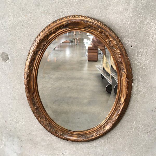 Antique Oval Gilt Frame Mirror
