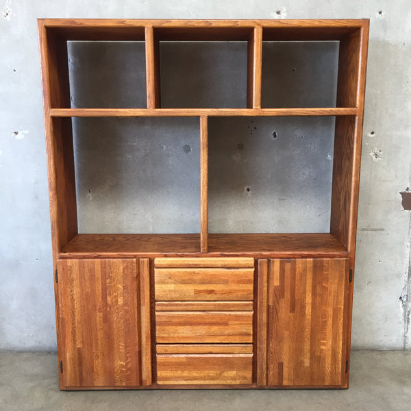 Oak Vintage Shelf Unit