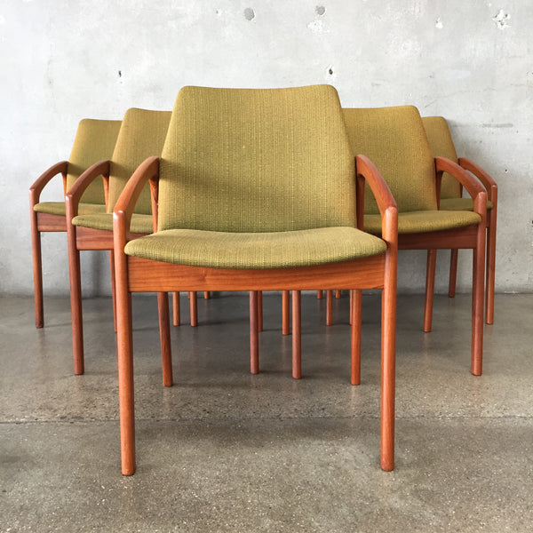 Set of Six Vintage 1960s Kai Kristiansen Paper Knife Dining Chairs