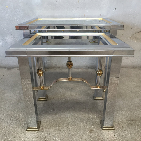 Pair of Hollywood Regency Nesting Tables