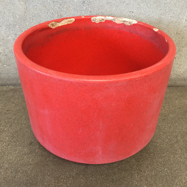 Mid Century Modern Gainey Ceramics Orange Pot