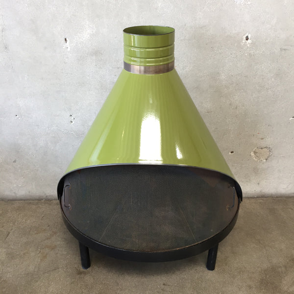 Mid Century Modern Avocado Green Preway Fireplace