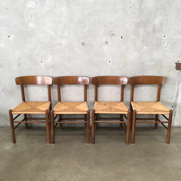 Set of Four Vintage Danish Style Dining Chairs