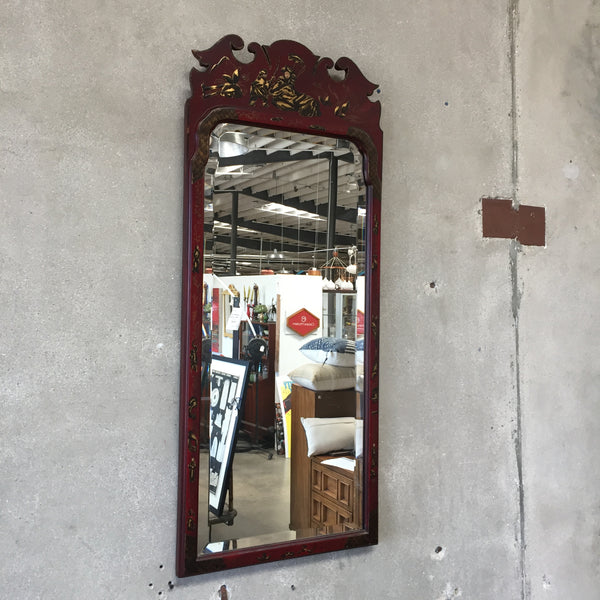 Vintage Chinoisereie Williamsburg Beveled Mirror
