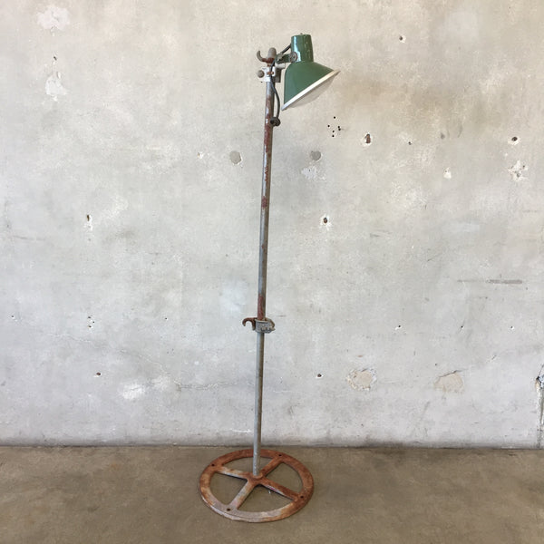 Industrial Porcelain Shade Floor Lamp by Benjamin