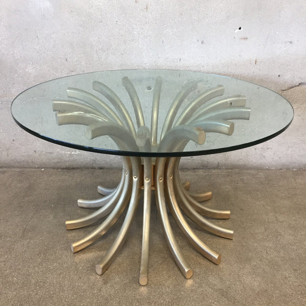 Mid Century Sun Burst Side Table