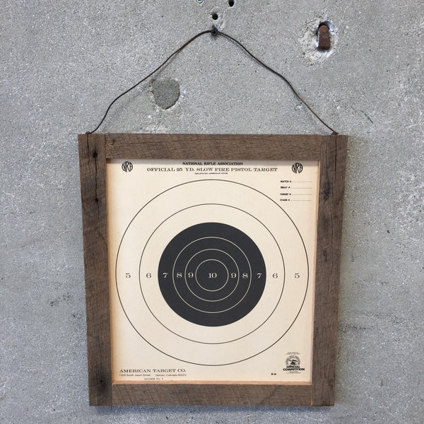 National Rifle Association Target with Wood Frame