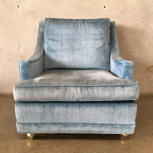 "Vintage Mid Century Blue ""His"" Chair"