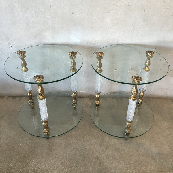 Pair of Hollywood Regency Side Tables