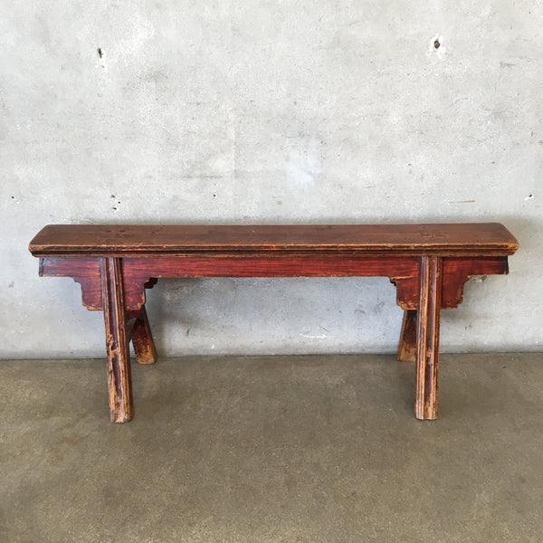 Vintage Narrow Wood Bench
