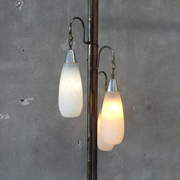 Mid Century Floor to Ceiling Pole Lamp