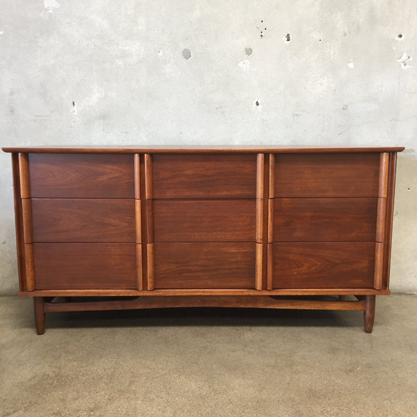 Mid Century Walnut Nine Drawer Dresser