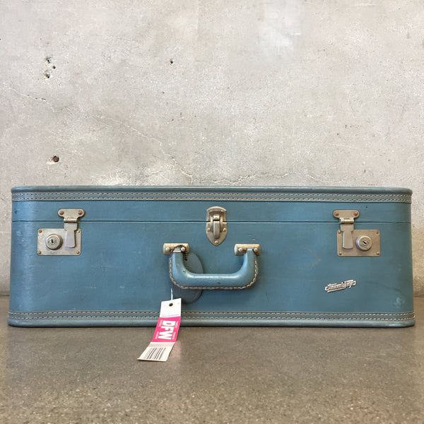 Vintage Blue Travel Toy Luggage