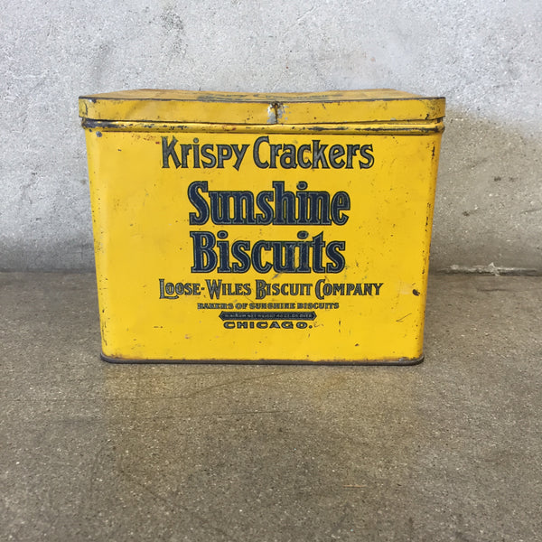 Vintage Sunshine Biscuits Tin Box