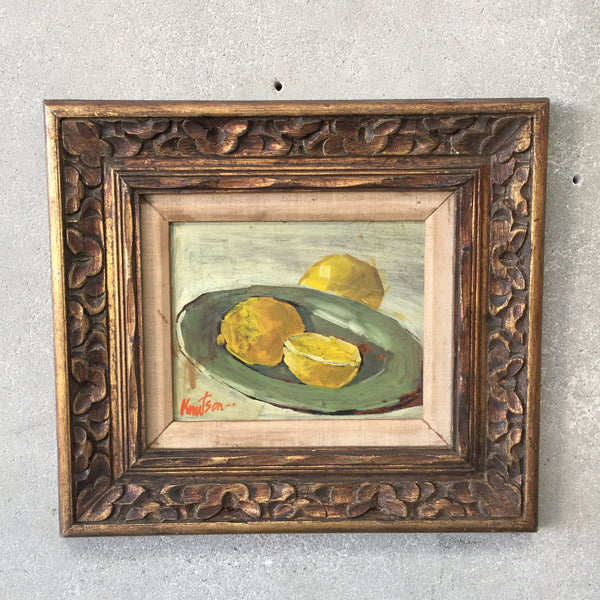 Mid Century Still Life Painting on Board