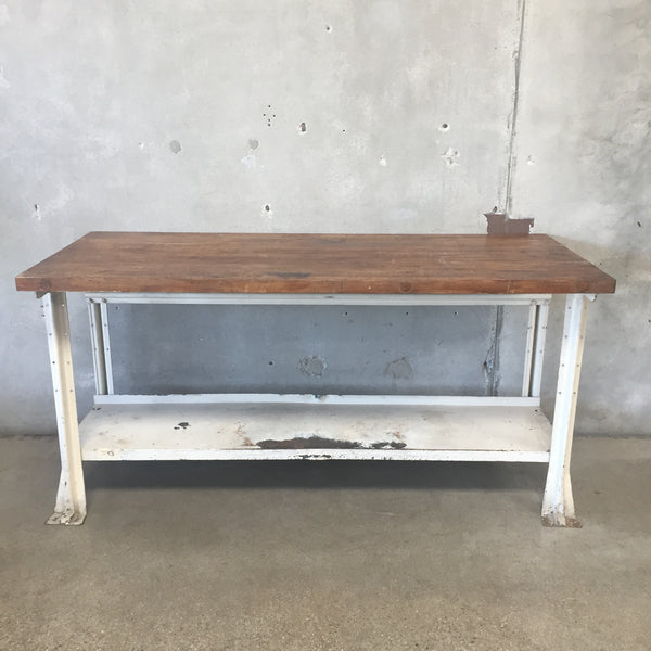 Industrial Butcher Block Work Bench