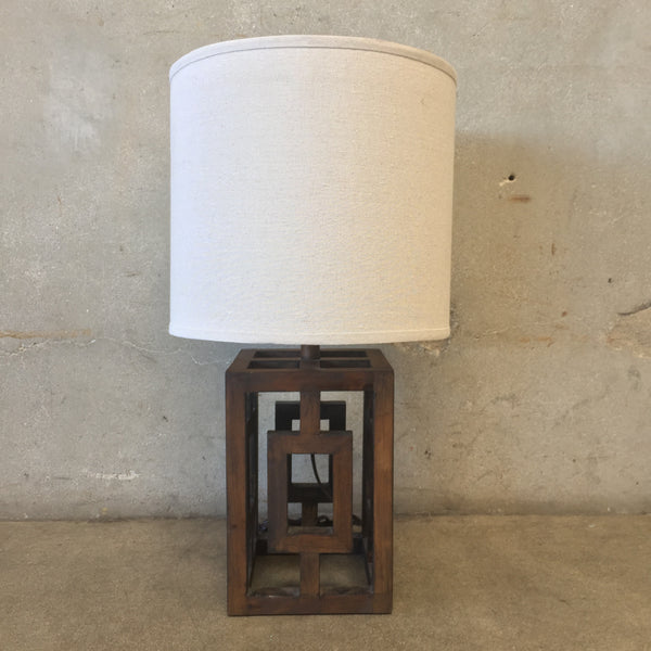 Geometric Wood Lamp