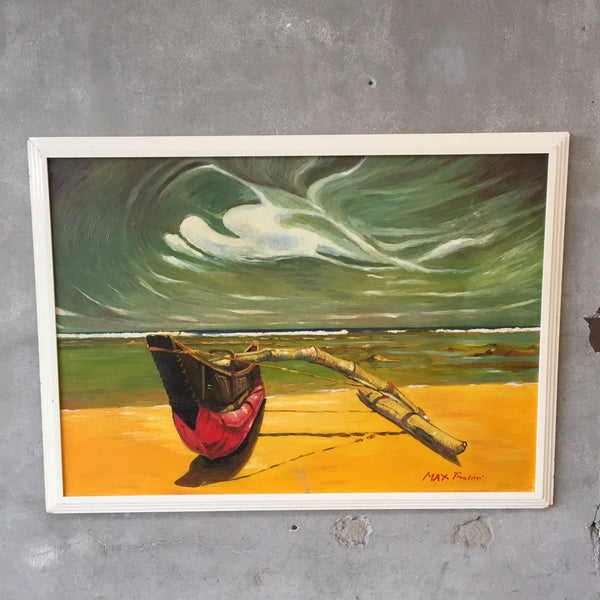 Mid Century Oil On Canvas Painting by Max Paolini