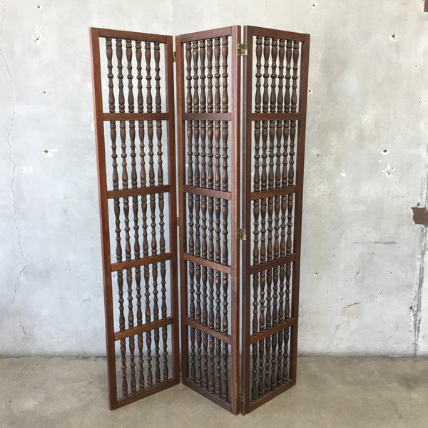 Vintage Mid Century Three Panel Screen Room Divider