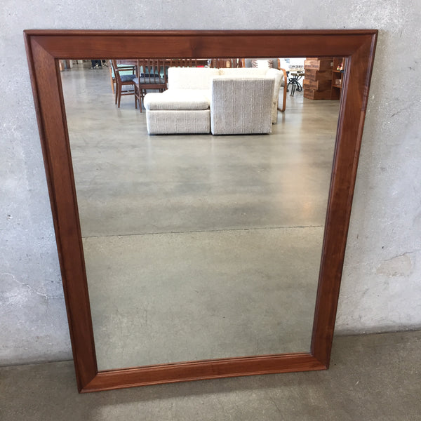 Mid Century Walnut Mirror by Glenn of California