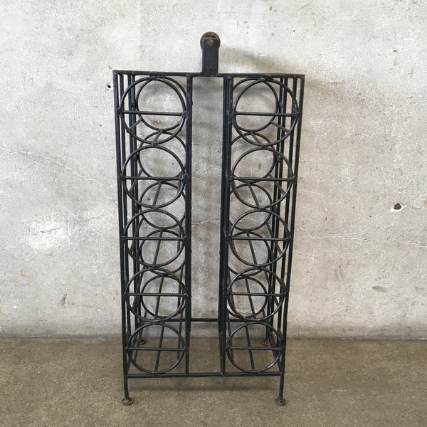Mid Century Iron Wine Rack