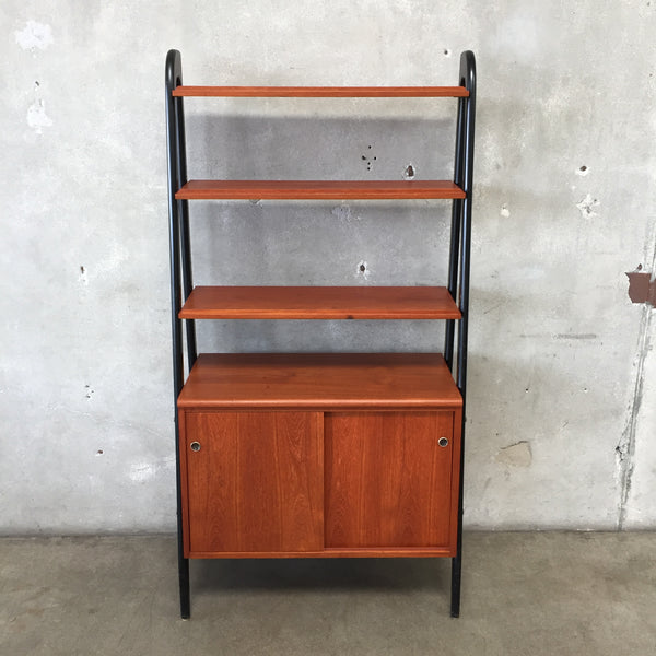 Danish Modern Teak Desk Wall Unit