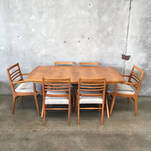 Mid Century X Base Dining Set by RWAY