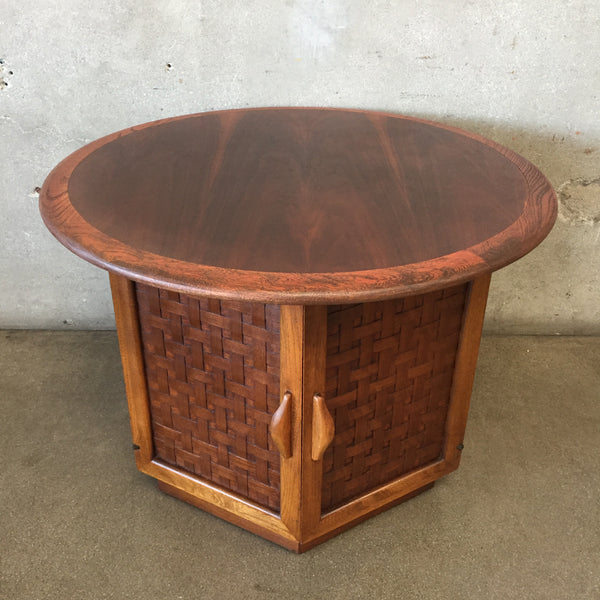 Mid Century Round Lane End Table
