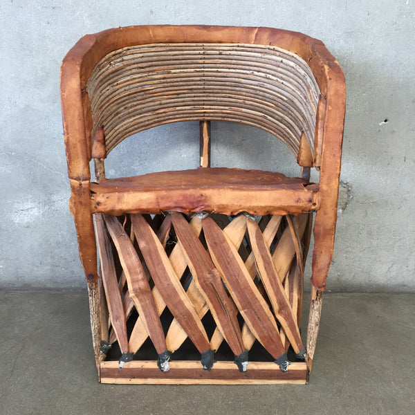 Vintage Mid Century Boho Style Chair
