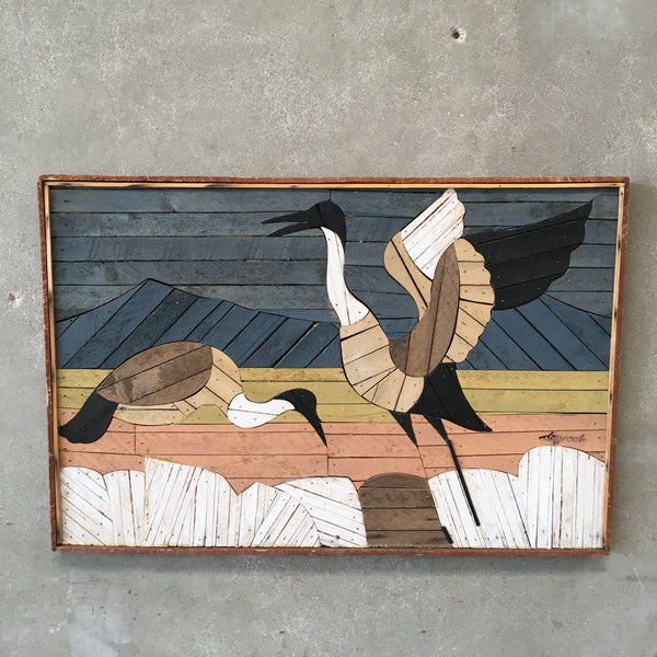 Vintage Wood Art Signed by Theodore DeGroot
