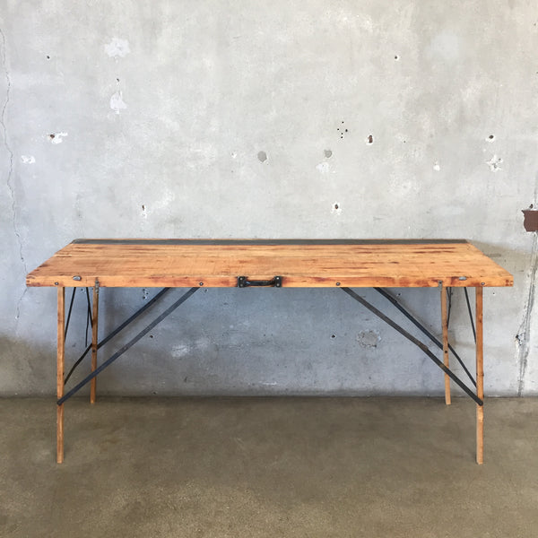 Vintage Wall Paper Table