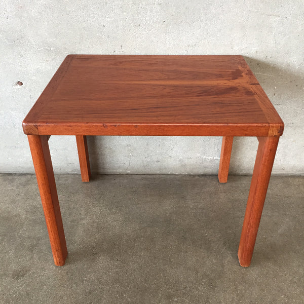 Mid Century Danish Teak Side Table by Vejle Stole Mobelfabrik