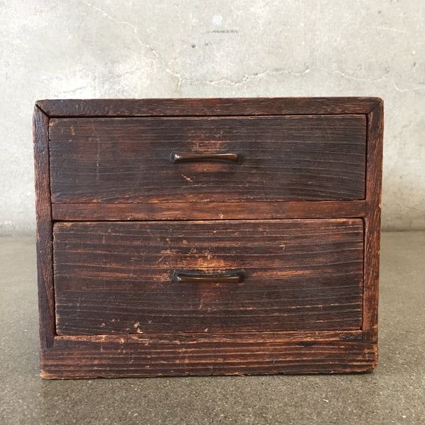 Japanese Two Drawer Antique Box