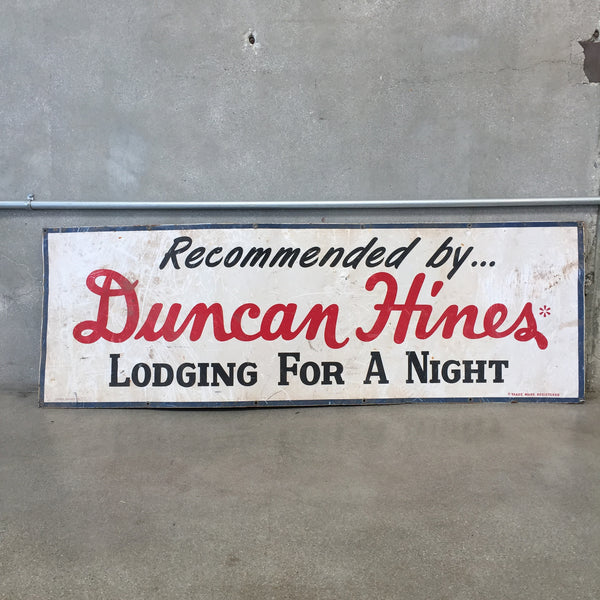 Duncan Hines Lodging Sign