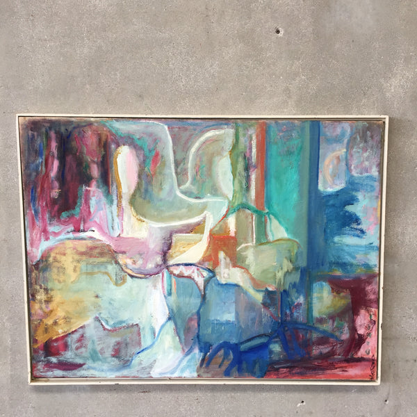 1950's Signed Abstract Painting