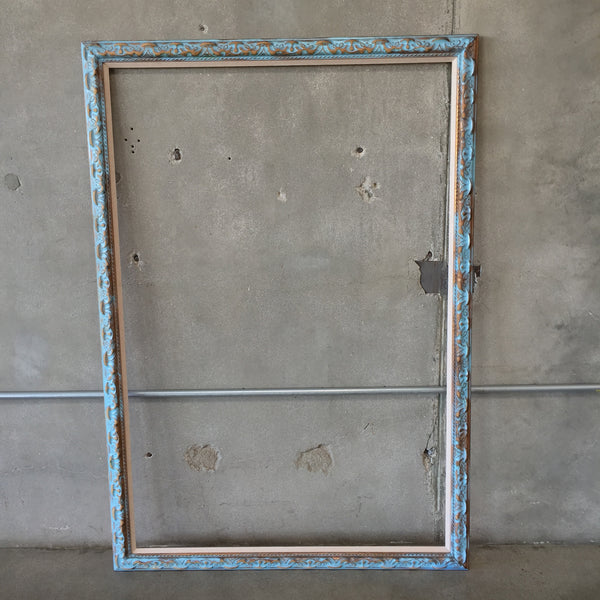 Large Painted Blue Frame