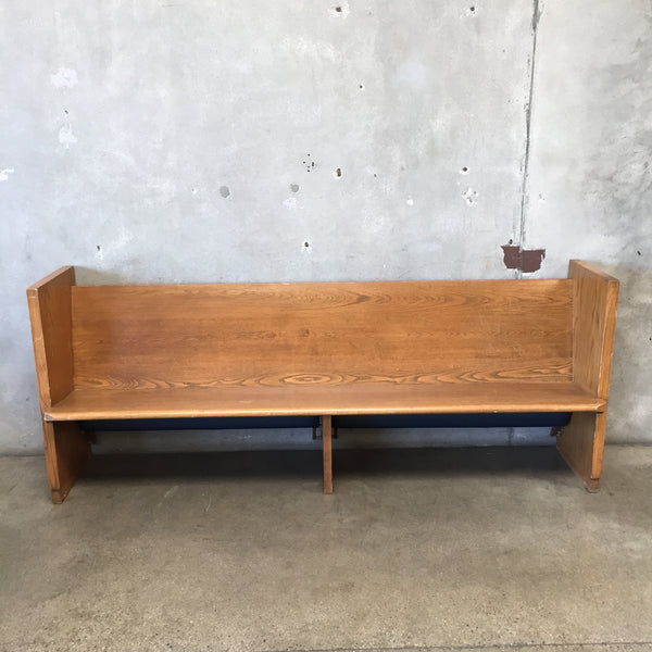 Wooden Church Pew Bench