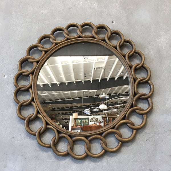 Vintage Carved Wood Mirror