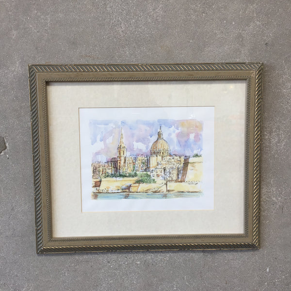 Watercolor Painting of Italy by Stoilov 2000