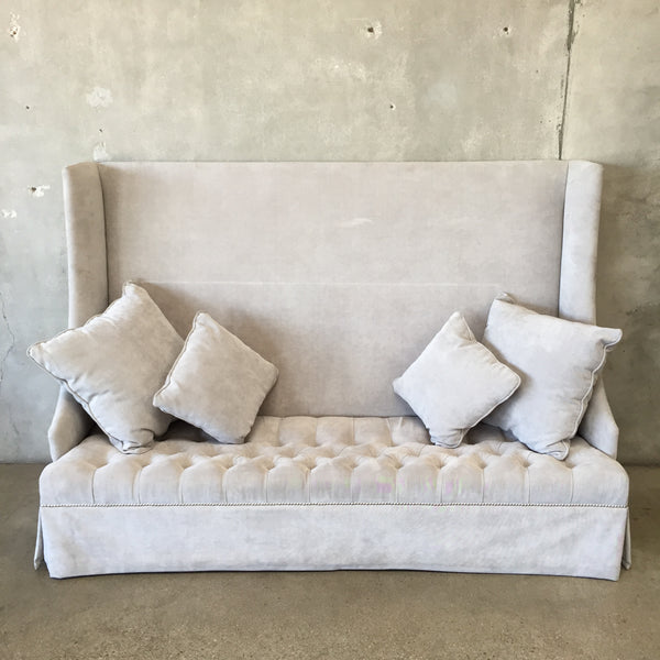 Wing Back Sofa with Pillows