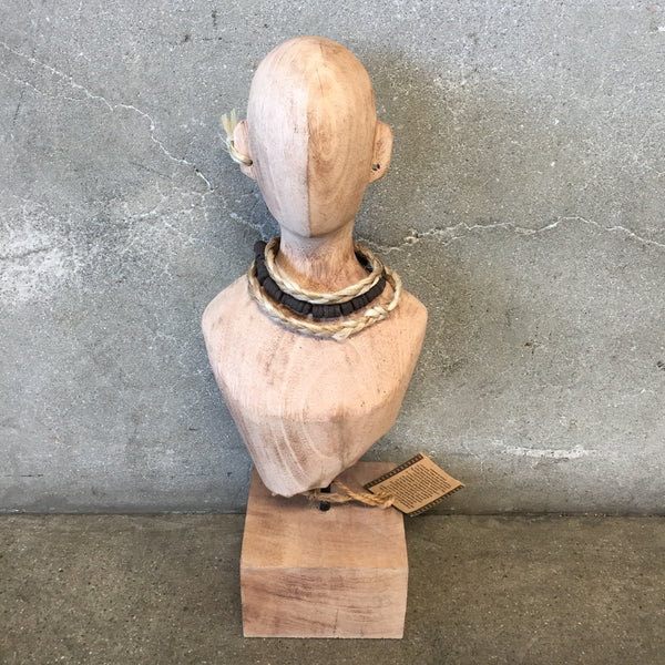 Mango Wood Hand Carved Bust