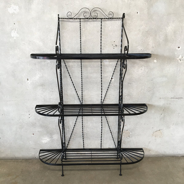 Vintage Metal Kitchen or Garden Rack