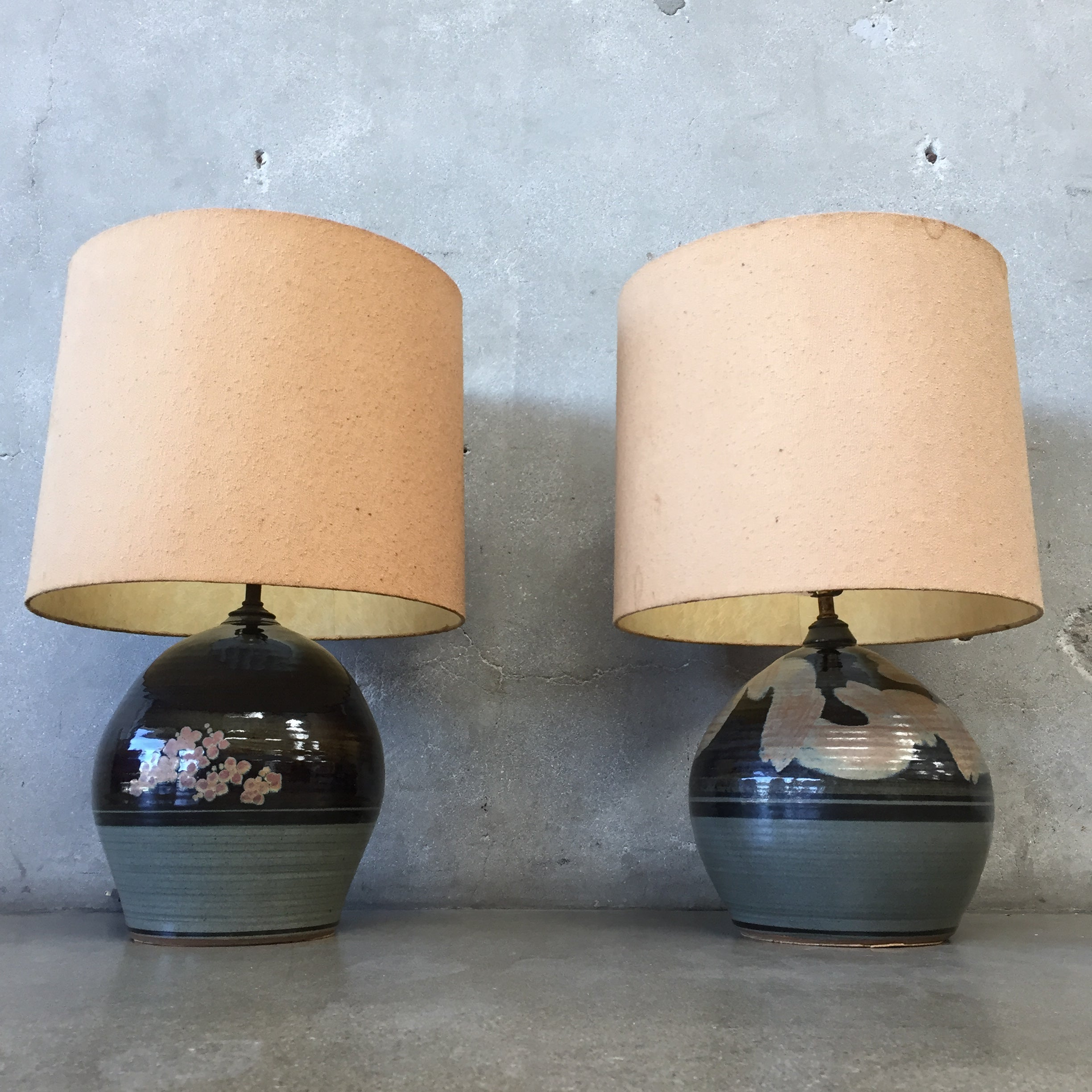 Pair of mid century studio pottery table lamps urbanamericana pair of mid century studio pottery table lamps mozeypictures Choice Image