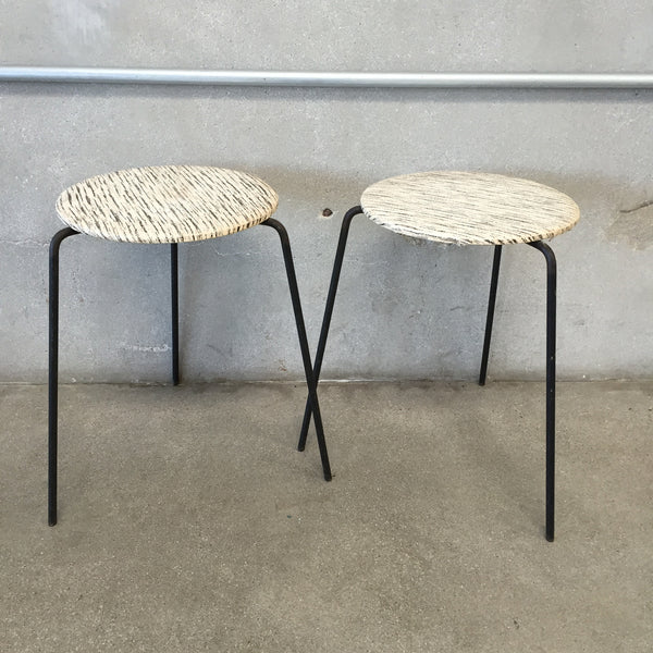 Pair of Small Mid Century Stacking Tables