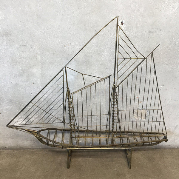 Mid Century Ship Sculpture